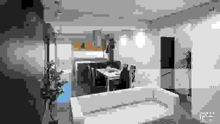 SALA/RECIBIDOR Salas de estilo minimalista de Arq.AngelMedina+ Minimalista Concreto