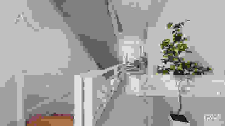 PASILLOS, VEATIBULOS Y ESCALERAS. Pasillos, vestíbulos y escaleras de estilo minimalista de Arq.AngelMedina+ Minimalista Concreto