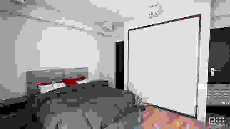 DORMITORIO PRINCIPAL Cuartos de estilo minimalista de Arq.AngelMedina+ Minimalista Concreto