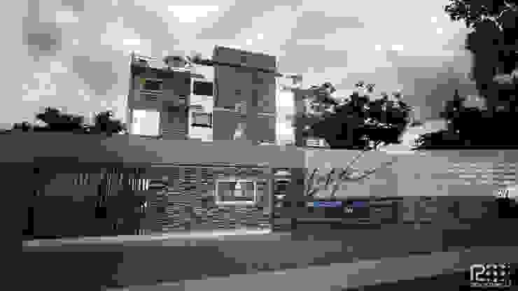 ENTRADA PRINCIPAL A EDIFICIO Casas de estilo minimalista de Arq.AngelMedina+ Minimalista Piedra