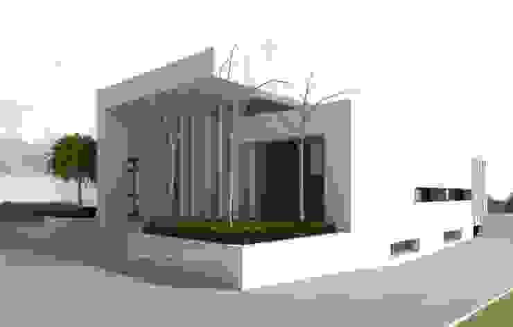 Vivienda moderna. Estudio previo de la fachada Norte Oeste. DYOV STUDIO Arquitectura, Concepto Passivhaus Mediterraneo 653 77 38 06 Villas Madera Blanco