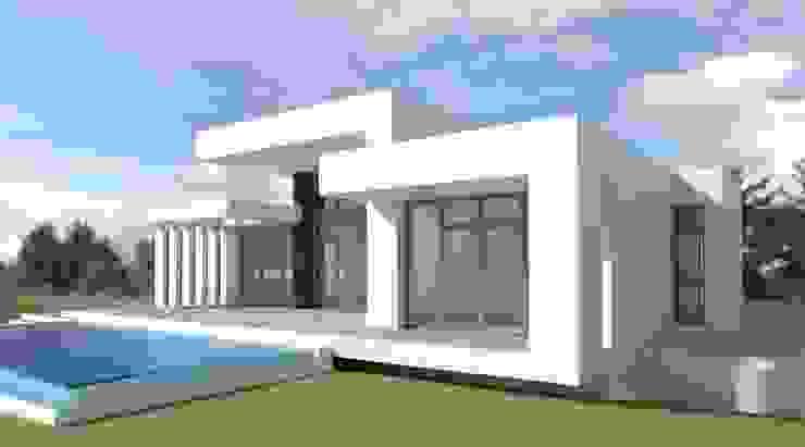 Vivienda Moderna con Fachada Sur en los estudios previos DYOV STUDIO Arquitectura, Concepto Passivhaus Mediterraneo 653 77 38 06 Villas Caliza Blanco