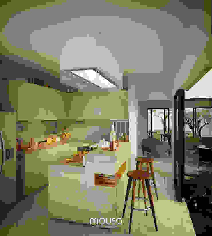 Casa Alor Cocinas de estilo moderno de mousa / Inspiración Arquitectónica Moderno