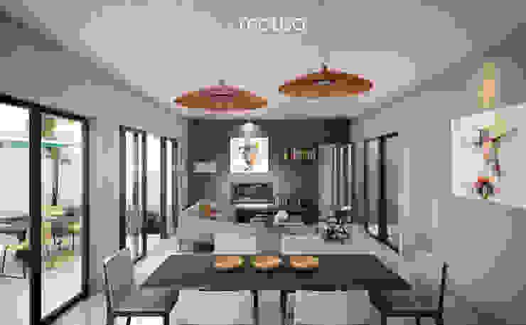 Casa Alor Comedores de estilo moderno de mousa / Inspiración Arquitectónica Moderno