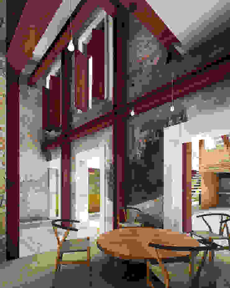 A HOUSE FOR... Comedores rústicos de mousa / Inspiración Arquitectónica Rústico