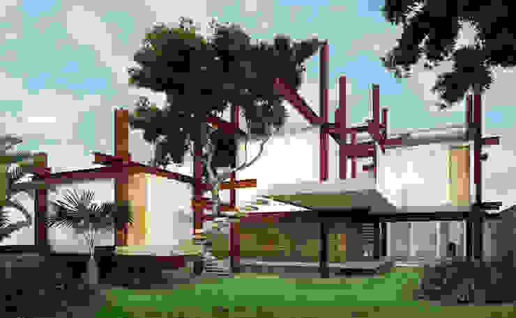 A HOUSE FOR... Jardines rústicos de mousa / Inspiración Arquitectónica Rústico