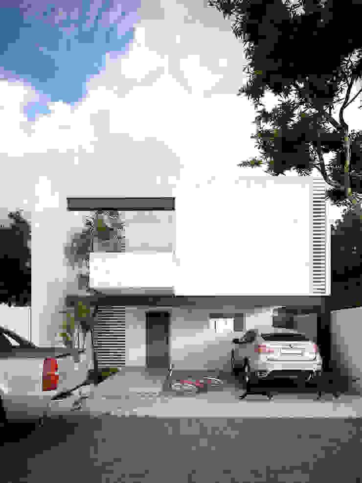 mousa / Inspiración Arquitectónica Case in stile minimalista