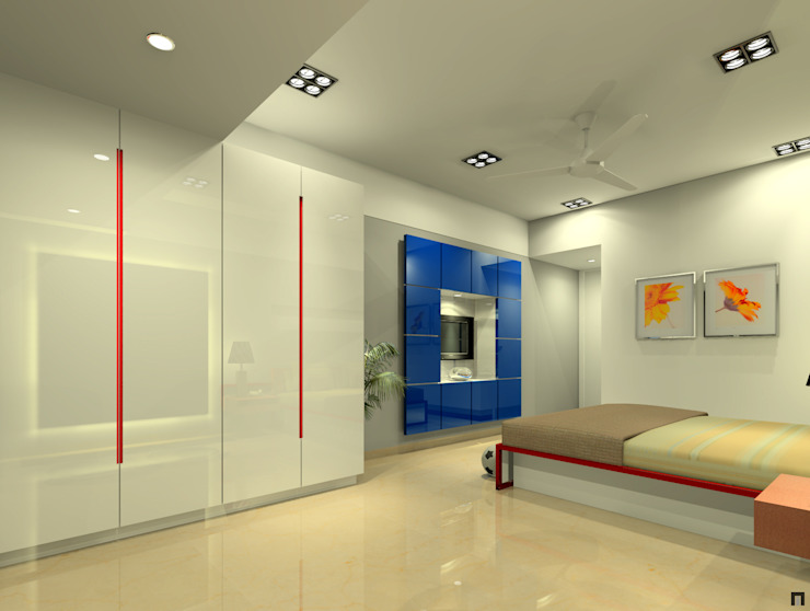 Children's bedroom 2 Modern style bedroom by A.S.Designs Modern Plywood