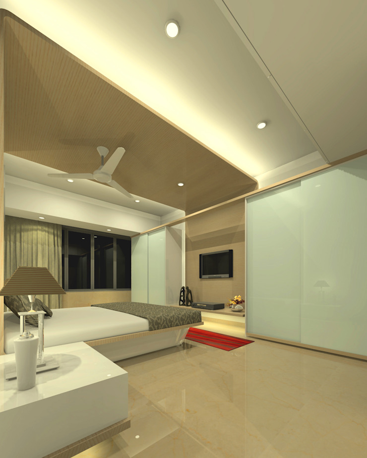 Master bedroom Modern style bedroom by A.S.Designs Modern Plywood