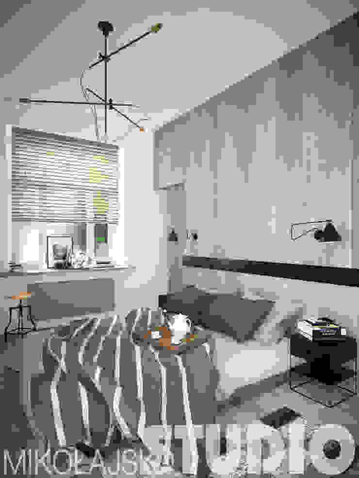 sypialnia design od MIKOŁAJSKAstudio