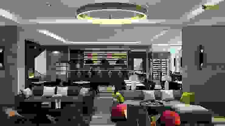 Beautiful Bar Interior Design: modern  by Yantram Architectural Design Studio, Modern