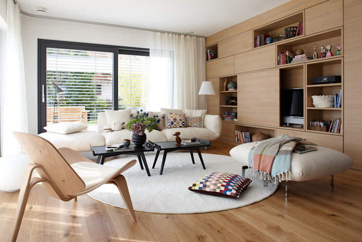 Modern Living Room by Burkhard Heß Interiordesign Modern Wood Wood effect