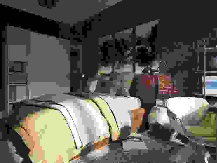 Industriale Schlafzimmer von Дизайн-мастерская 'GENESIS' Industrial