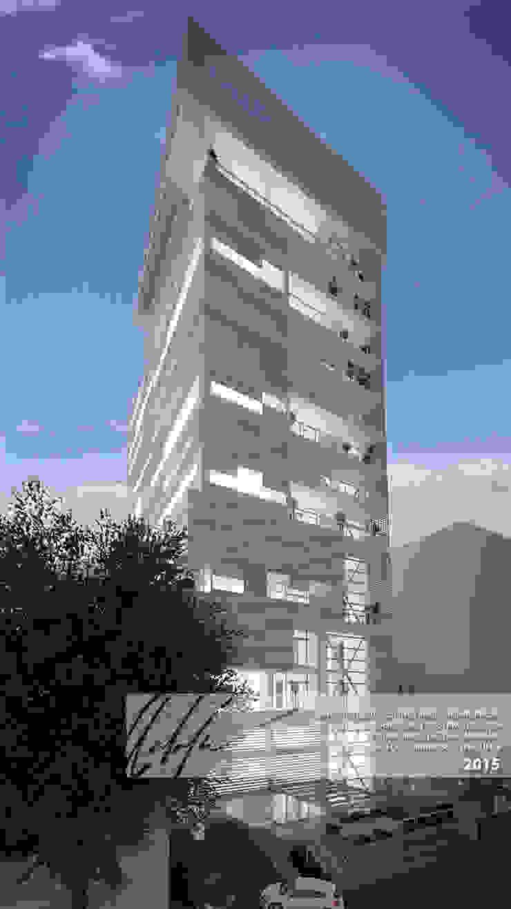 FACHADA PRINCIPAL Casas de estilo minimalista de Arq.AngelMedina+ Minimalista Metal