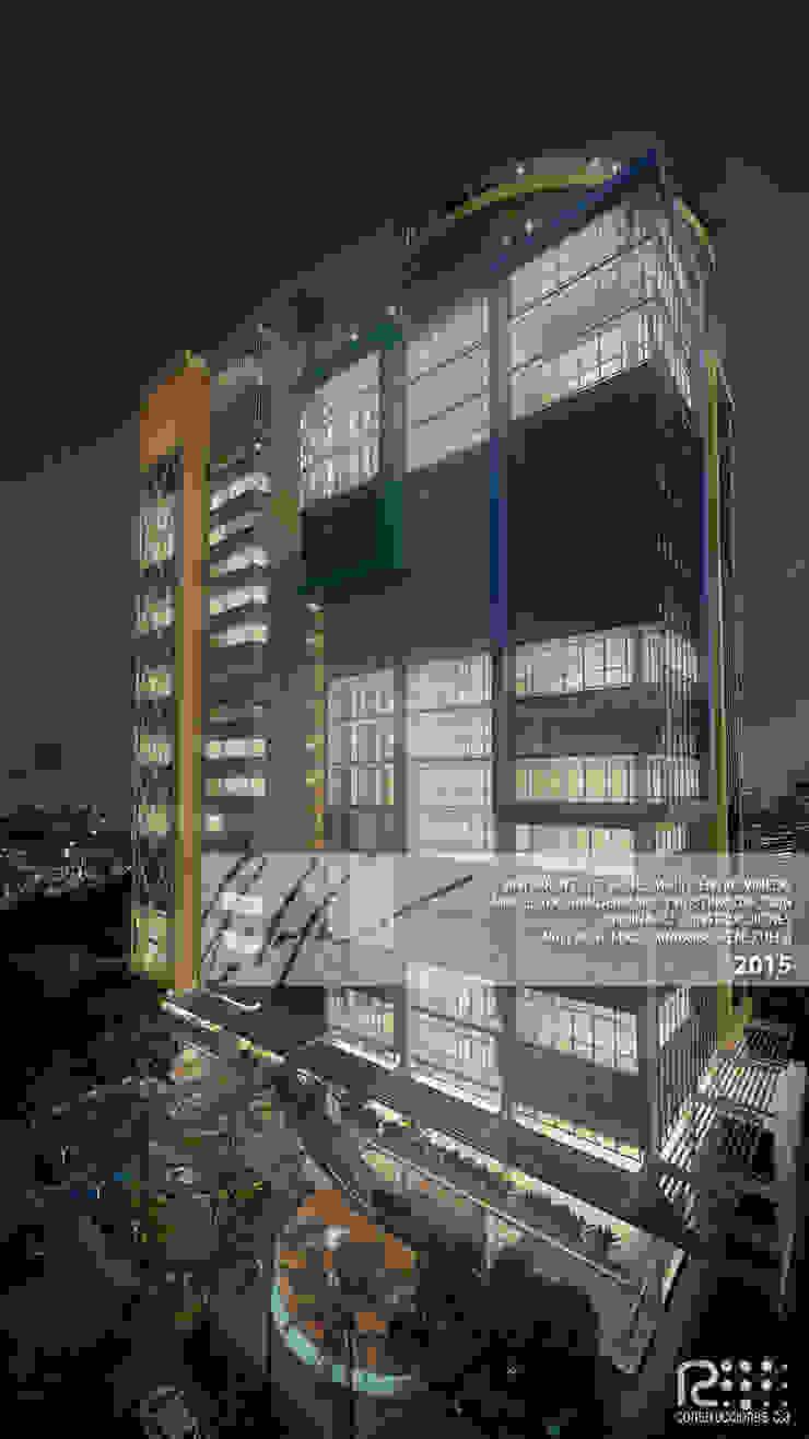 Fachada Principal Arq.AngelMedina+ Casas modernas Metal Multicolor