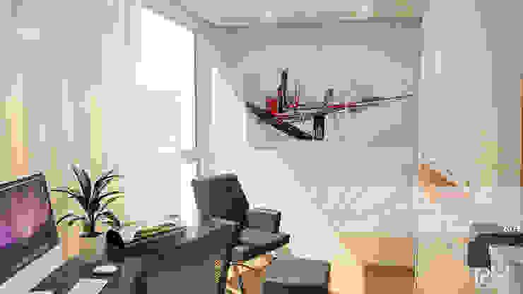 AREA DE ESTUDIO: Oficinas de estilo  por Arq.AngelMedina+