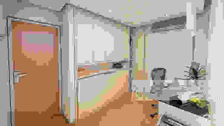 AREA DE ESTUDIO Oficinas de estilo minimalista de Arq.AngelMedina+ Minimalista Madera Acabado en madera