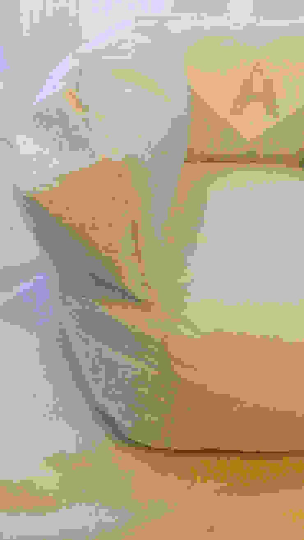 de Textilpuff Moderno Textil Ámbar/Dorado