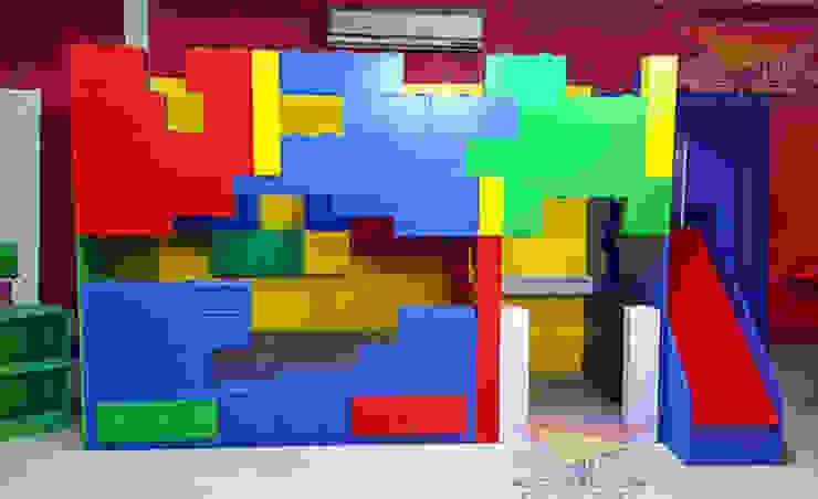 Increíble litera de LEGOS de Kids Wolrd- Recamaras Literas y Muebles para niños Moderno Derivados de madera Transparente