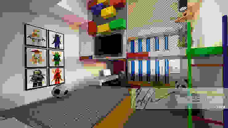 Habitacion de ninos A Cuartos infantiles de estilo minimalista de Arq.AngelMedina+ Minimalista Compuestos de madera y plástico