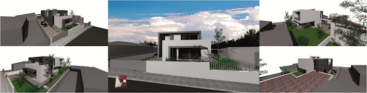 fachada por LouProj - arquitectura e engenharia lda Moderno