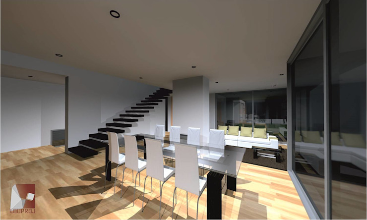 area social por LouProj - arquitectura e engenharia lda Moderno