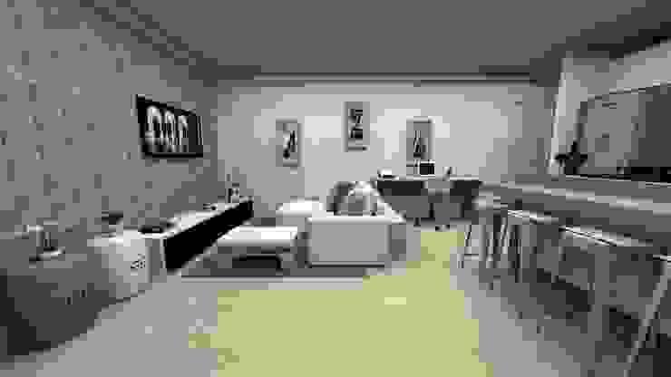 MV Arquitetura e Design Ruang Keluarga Modern