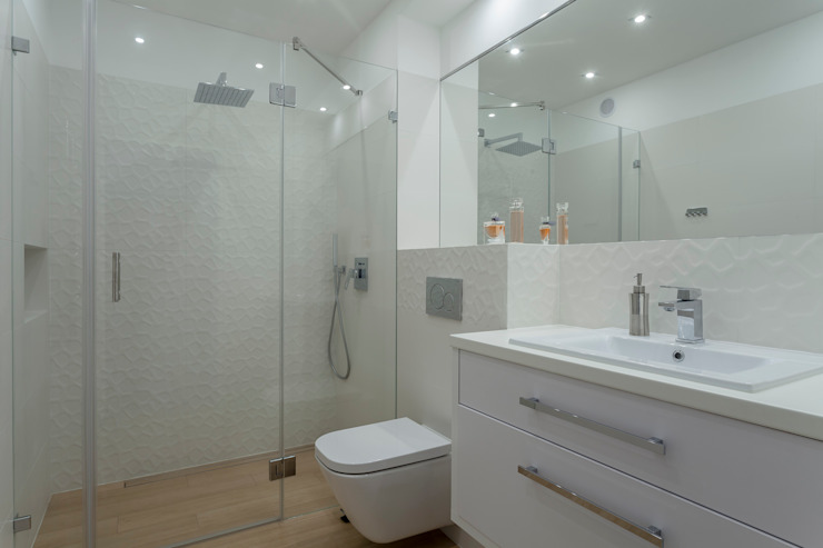 Łazienka Nowoczesna łazienka od Carolineart Nowoczesny