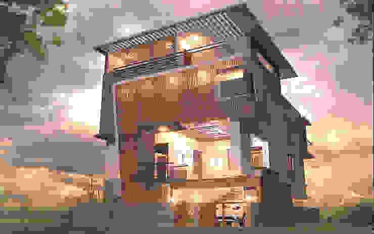MUNIRAJU 'S RESIDENCE Modern houses by TECHNO ARCHITECTURE .INC Modern Wood Wood effect