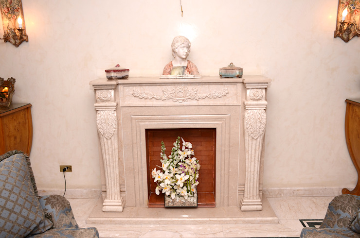 Tania Mariani Architecture & Interiors Living roomFireplaces & accessories Marmer White
