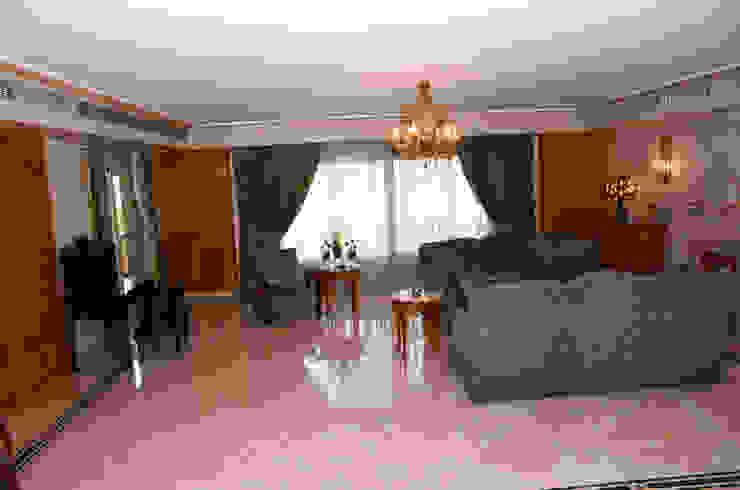 Tania Mariani Architecture & Interiors Ruang Keluarga Klasik Kayu Green