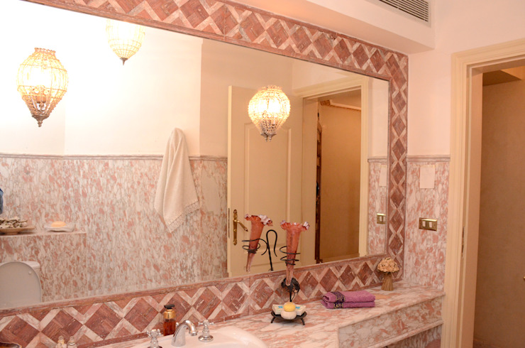 Tania Mariani Architecture & Interiors Kamar Mandi Klasik Marmer Pink