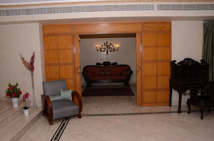 Tania Mariani Architecture & Interiors Ruang Media Klasik Kayu Wood effect