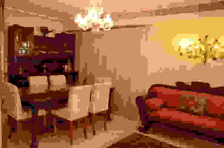 Tania Mariani Architecture & Interiors Ruang Makan Klasik Kayu Beige