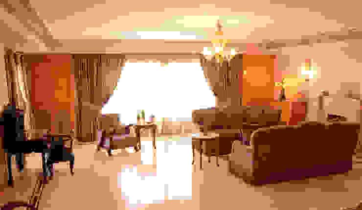 Tania Mariani Architecture & Interiors Ruang Keluarga Klasik Kayu Wood effect