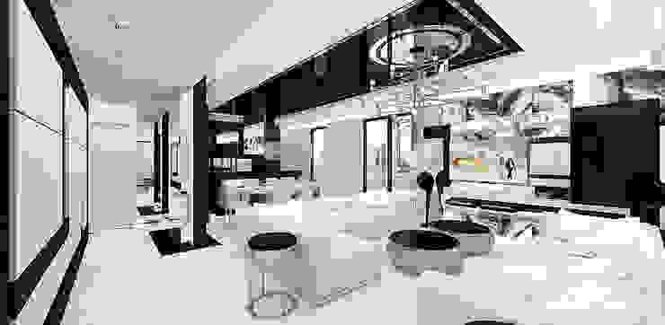 LOOK #69 | Apartament Eklektyczny salon od ARTDESIGN architektura wnętrz Eklektyczny