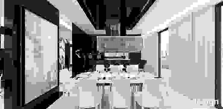 LOOK #69 | Apartament Eklektyczna jadalnia od ARTDESIGN architektura wnętrz Eklektyczny