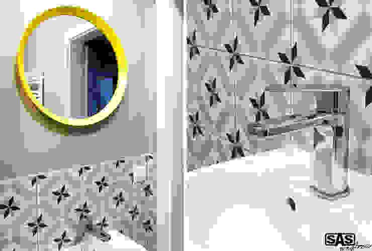 Projekt mieszkania na wynajem w Zielonej Górze Skandynawska łazienka od SAS Skandynawski