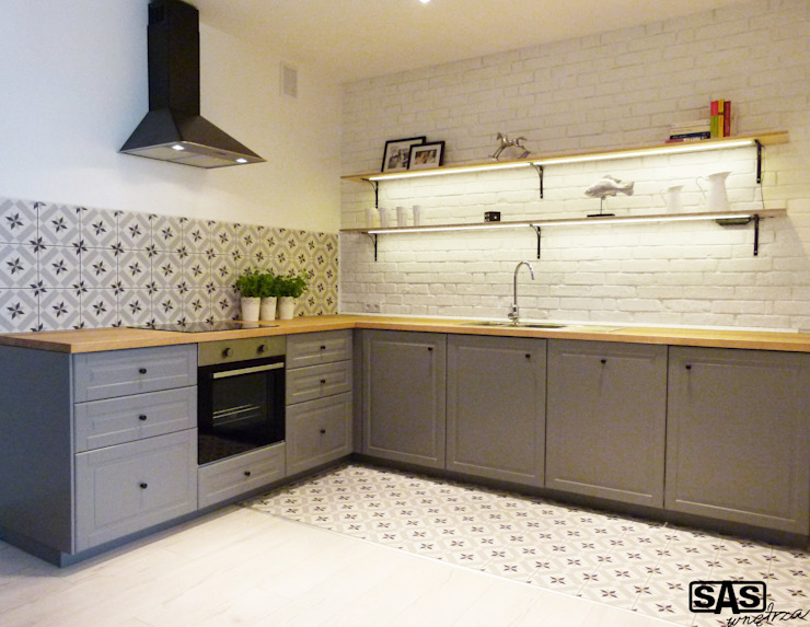 Projekt mieszkania na wynajem w Zielonej Górze Skandynawska kuchnia od SAS Skandynawski