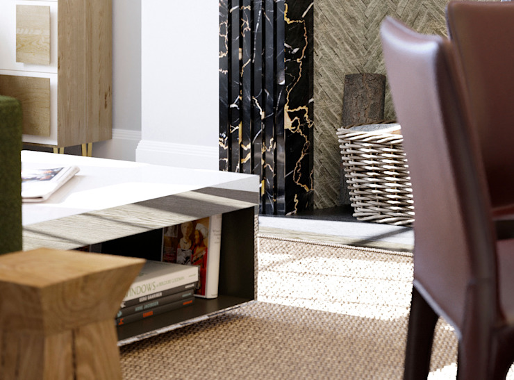 Seaford Court Modern living room by Recent Spaces Modern Marble