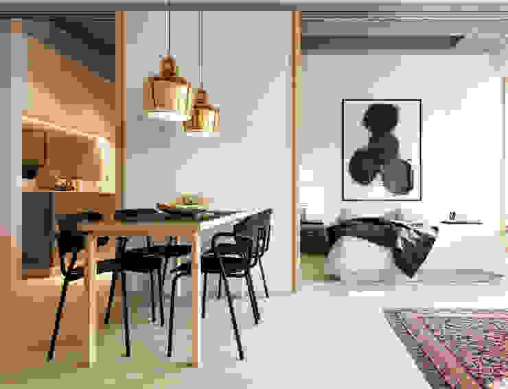 Pied à Terre by Recent Spaces Salas de estar modernas por Recent Spaces Moderno Madeira Acabamento em madeira