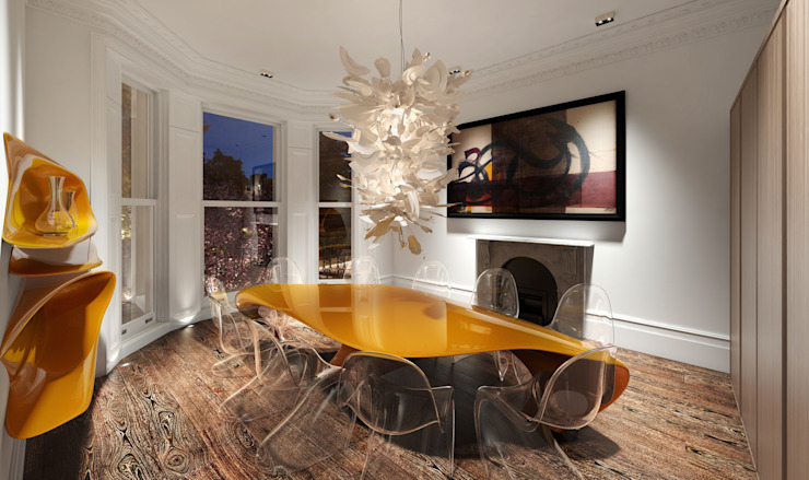 House in Notting Hill by Recent Spaces Modern dining room by Recent Spaces Modern Plastic