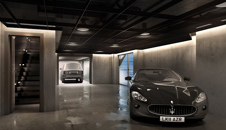 ​House in Notting Hill by Recent Spaces Recent Spaces Modern garage/shed Metal Black