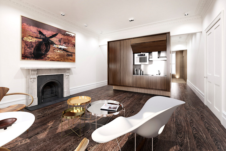 House in Notting Hill by Recent Spaces Modern dining room by Recent Spaces Modern Wood Wood effect