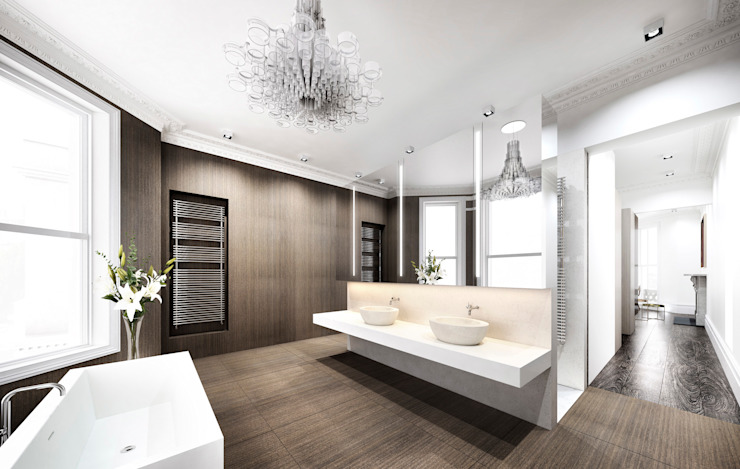​House in Notting Hill by Recent Spaces Modern bathroom by Recent Spaces Modern Tiles