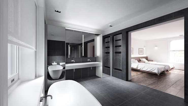 House in Notting Hill by Recent Spaces Modern bathroom by Recent Spaces Modern Slate