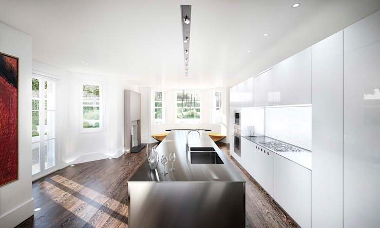 House in Notting Hill by Recent Spaces Modern kitchen by Recent Spaces Modern Metal