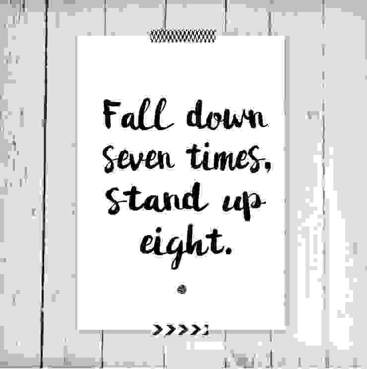 Poster *Fall Down por Oi! Xica Escandinavo Papel