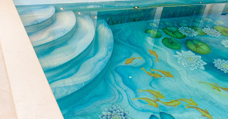 Swimming Pool Steps - Bespoke Classic style pool by Aqua Platinum Projects Classic