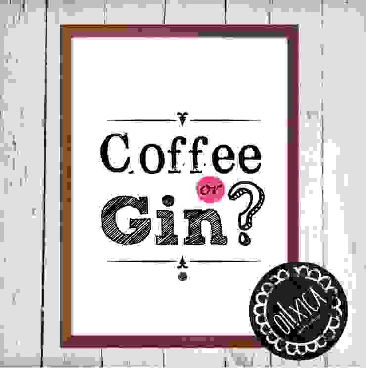 Poster *Coffee or Gin? por Oi! Xica Escandinavo Papel
